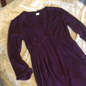 J crew plum cotton / rayon blend dress - medium